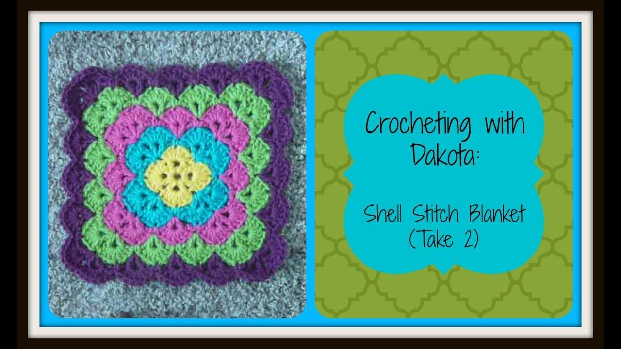 Crocheting With Dakota Beautiful Shell Stitch Blanket Take 2