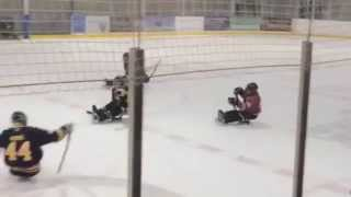 Sledge Hockey- Billy Bridges hits Page in Elite Championship game