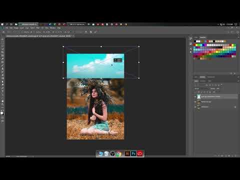 Adobe Photoshop CC Tutorial : Outdoor Portrait Editing Warm Tone  2019 thumbnail
