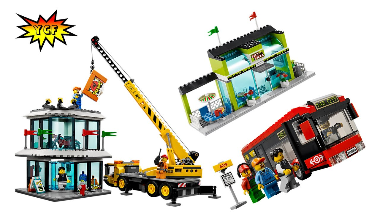 New Lego City Town Square 60026 Summer 2013 Picture
