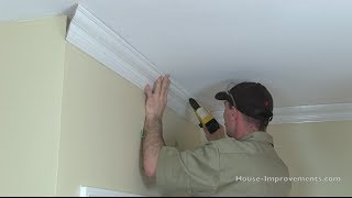 how to cut install crown moulding
