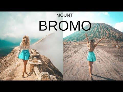 HIKING ACTIVE VOLCANO MOUNT BROMO - EAST JAVA INDONESIA