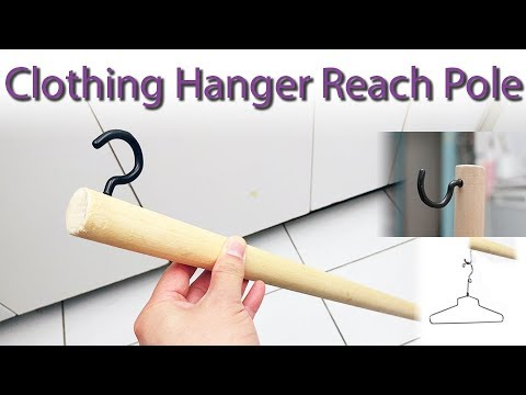 $5 DIY clothing hanger extender hook pole