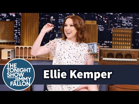 Ellie Kemper Celebrates Her Pregnancy with Tonight Dough Ice Cream