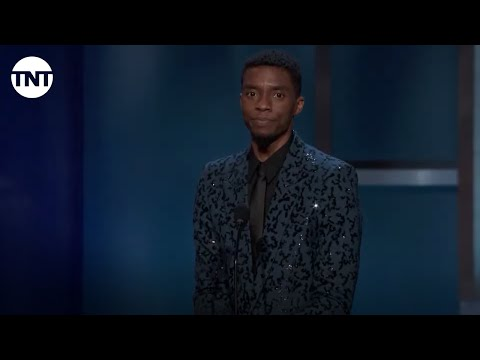 Chadwick Boseman Tribute to Denzel Washington | AFI 2019 | TNT