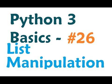 python-3-programming-tutorial---list-manipulation