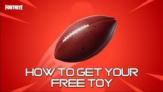 How to get your FREE Pigskin toy in FORTNITE BATTLE ROYALE