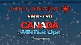 Air Canada EMB-190 Canada Winter Ops