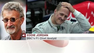 Repeat youtube video SCHUMACHER 'AS TOUGH AS YOU CAN IMAGINE' SAYS EDDIE JORDAN - BBC NEWS