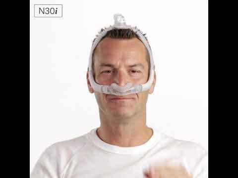 resmed airfit n30i fitting tips nasal cradle cpap mask