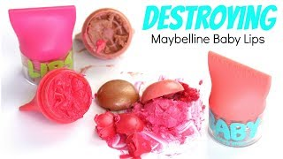 Destroying Maybelline Baby Lips Balm & Blush | THE MAKEUP BREAKUP