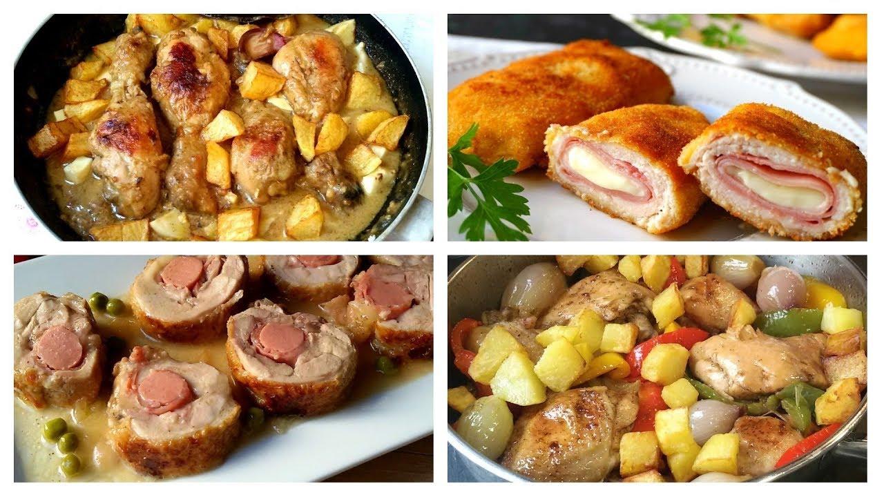 que puedo cocinar con pollo para el almuerzo