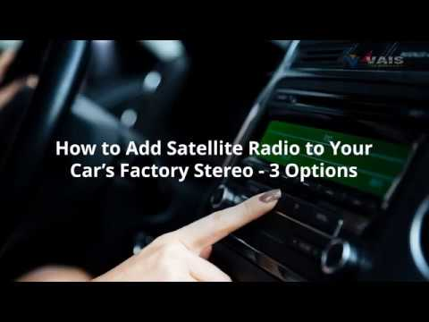 How to Add Satellite Radio to Your Car's Factory Stereo