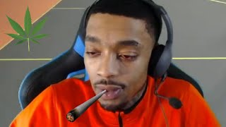 FlightReacts BAKED & ALMOST PASSES OUT ON STREAM AFTER HE SMOKES ALL HIS PROBLEMS AWAY 💨