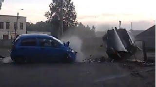 Подборка дтп - Авто перевертыши или полеты с переворотами