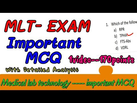 MLT Mcq Questions || Medical Laboratory Technician MCQ Answers || PART-1