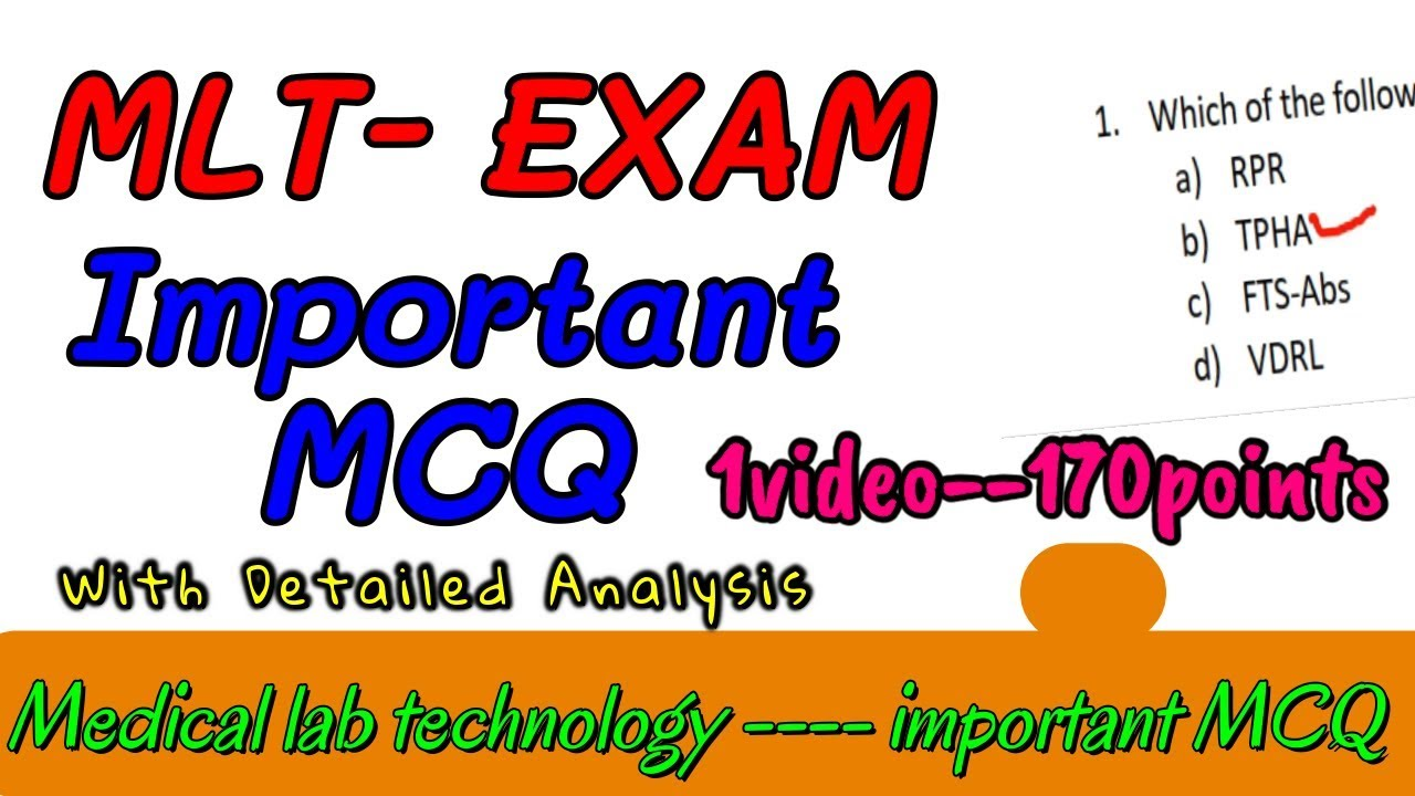 MLT mcq questions || Medical laboratory technician MCQ answers || PART-1