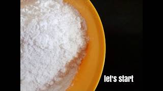 Icing Sugar for cake, pastries & desserts l Homemade Instant Icing Sugar l Confectioners Sugar