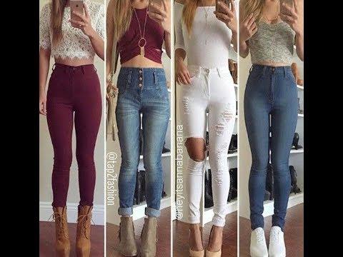 Outfits Con Pantalon De Tiro Alto 2018 Youtube