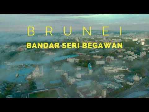 Brunei Bandar Seri Begawan Waterfront Under The Morning Clouds   DJI Mavic 2 Zoom