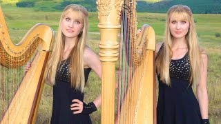 DON'T STOP BELIEVING (Journey) Harp Twins - Camille and Kennerly
