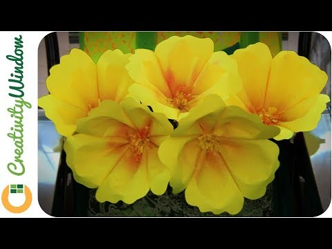 Easy No-glue DIY Large Paper Flower, Single Layer