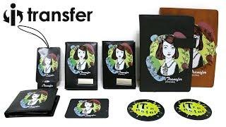 i-Transfer® Laser Transfer paper heat transfer toner printing on PU PVC leather Tutorials