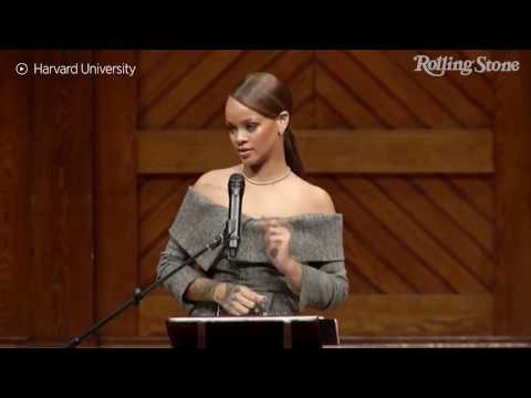 """So I made it to Harvard"": Rihanna Receives Harvard's Humanitarian Award"