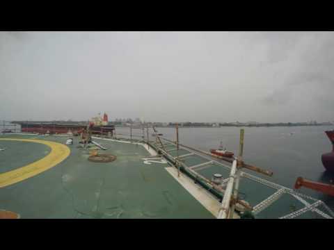 Tankers leaving Keppel Singapore shipyard
