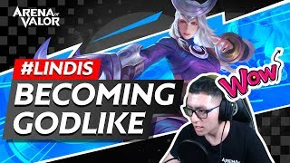 Lindis - Becoming Godlike | Arena of Valor