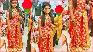 বাঙালি স্টাইলএ বিয়ের শাড়ী পড়া | Bengali Style Saree Draping || Step By Step 😍|| By B & M Studio