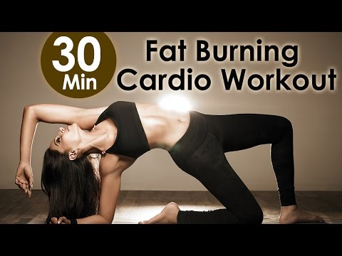 30 Min Fat Burning Cardio Workout  Bipasha Basu Unleash 'Full Routine'  Full Body Workout