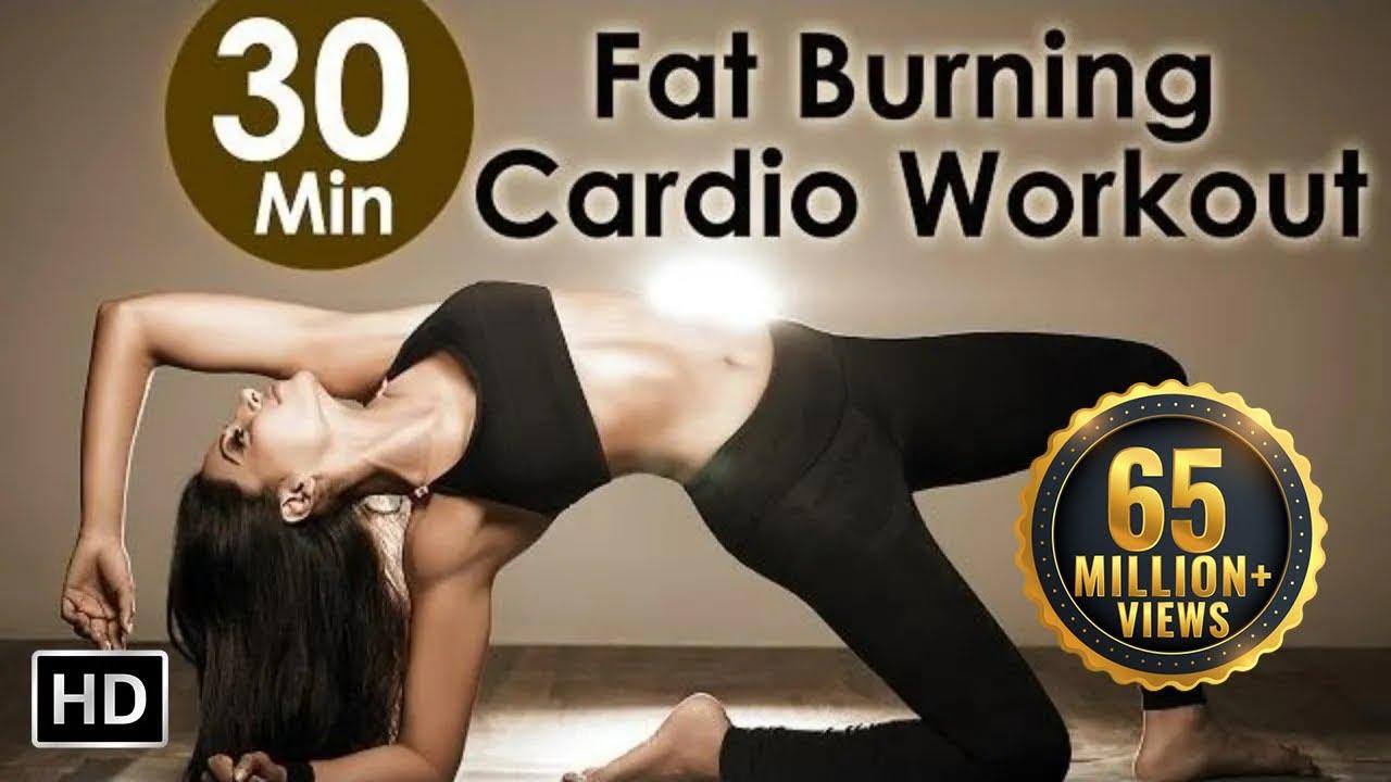 Bipasha Hot Video 30 min fat burning cardio workout - bipasha basu unleash 'full routine' - full body workout