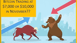 Bitcoin trading at $7,000 or $10,000 in November??