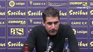 Rueda de prensa de Julio Velázquez tras el Cádiz CF vs AD Alcorcón (4-1)