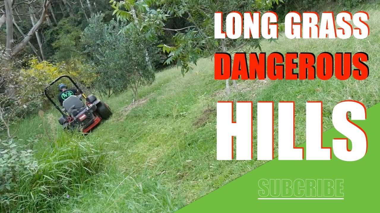 Warning Mowing Slopes Zero Turn Mower Lawn Care Vlogger