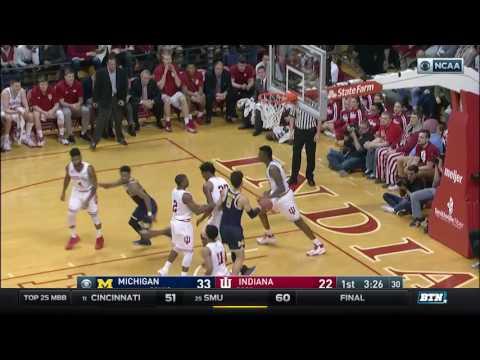 Michigan at Indiana - Men's Basketball Highlights