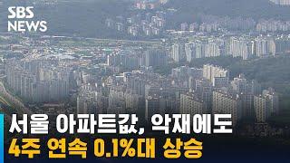 서울 아파트값, 4주 연속 0.1%대 상승…전세도 상승…