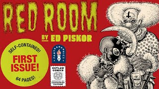 Announcing RED ROOM Issue 1, by ED PISKOR! May 2021! Monthly! Pre-Order It from Fantagraphics NOW!