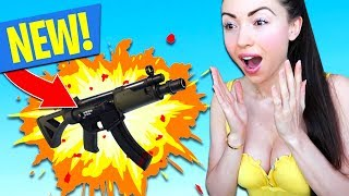 *NEW WEAPON* SUBMACHINE GUN UPDATE!! (Fortnite Battle Royale)