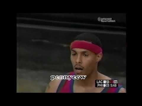 Allen Iverson nearly FIGHT with Eddie House after a hard foul (2004)