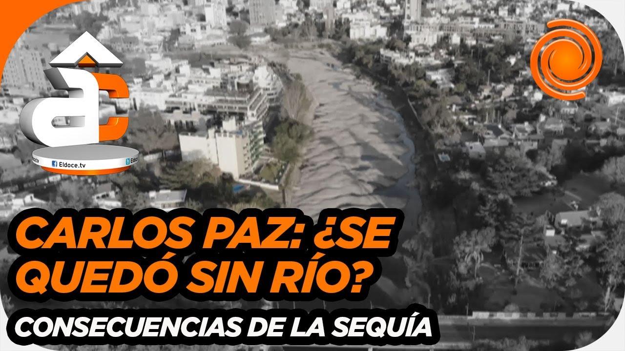Impactantes imágenes: Por la sequía el Río San Antonio llega a su bajante histórica