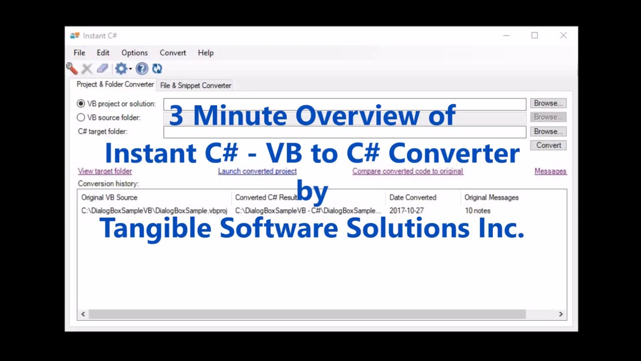 Instant C Vb To Source Code Converter In Action