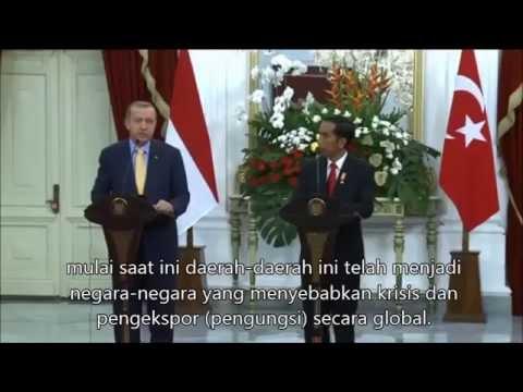 Jumpa pers Recep Tayyip Erdoğan, Presiden Turki di Indonesia