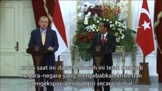 jumpa pers recep tayyip erdoğan presiden turki di indonesia