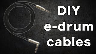 How to make an e-drum cable (stereo jack)