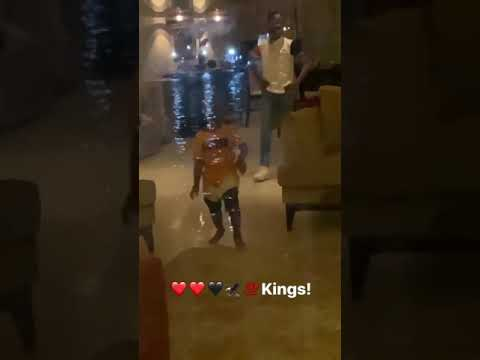 Wizkid Sons, Boliwatife And Zion Meet For The First Time In Ghana