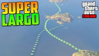 ¡¡¡¡ESTO ES SUPER LARGO!!!! - Gameplay GTA 5 Online Funny Moments (Carrera GTA V PS4)