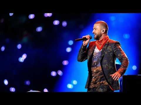 Justin Timberlake covers Prince at Super Bowl half-time show