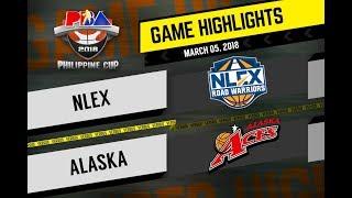 PBA Philippine Cup 2018 Highlights: NLEX vs Alaska Mar. 5, 2018